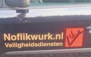 Logo Noflikwurk op onze auto